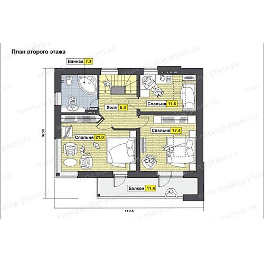 План 2-этажа проекта 60-61