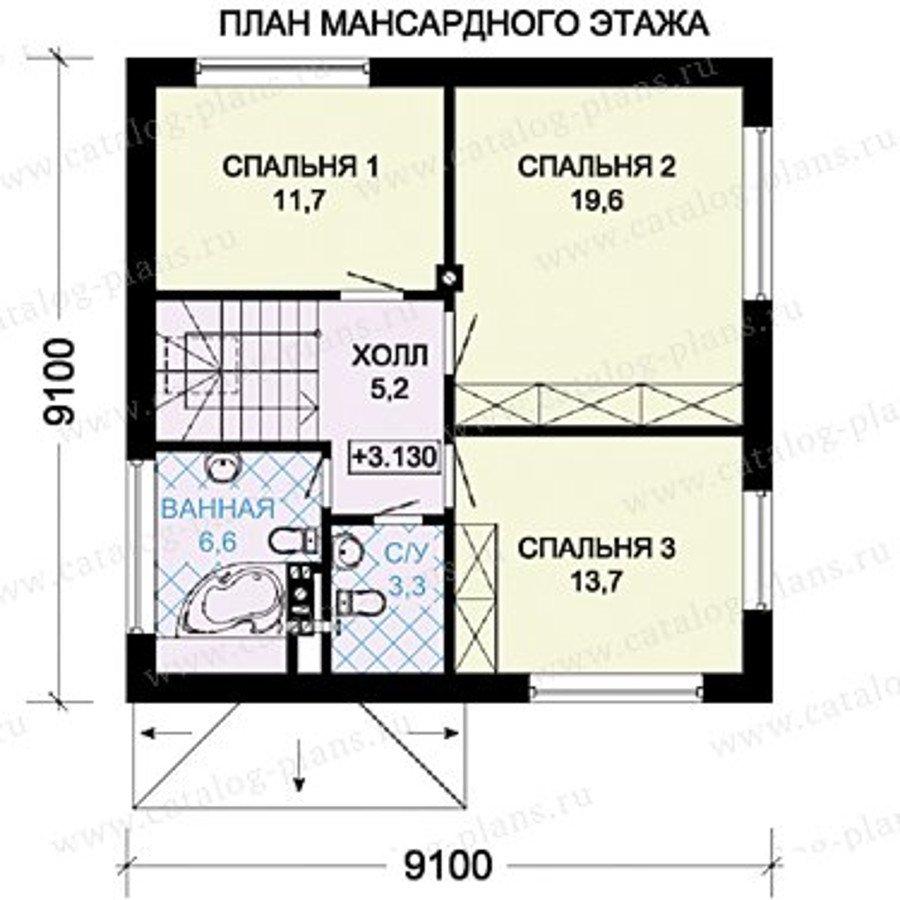 План 2-этажа проекта 60-32