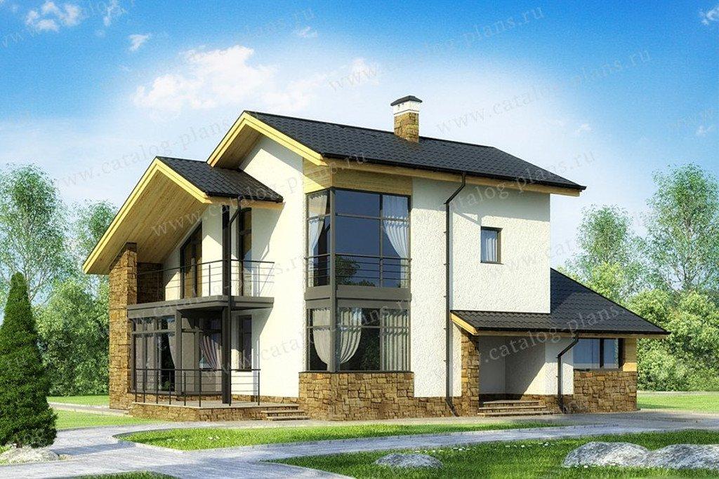 Проект жилой дом #60-61A материал - кирпич, стиль современный