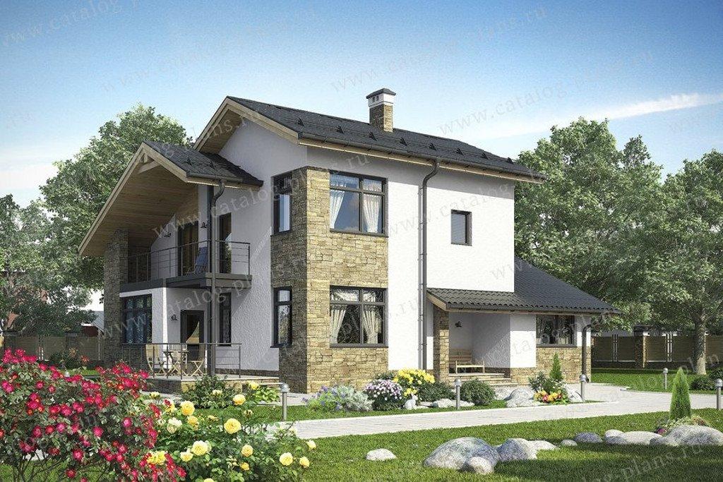 Проект жилой дом #60-61B материал - кирпич, стиль современный