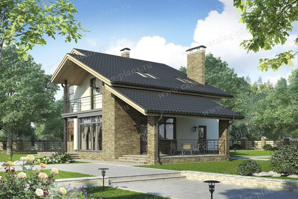 Проект жилой дом #60-61 материал - газобетон, стиль современный