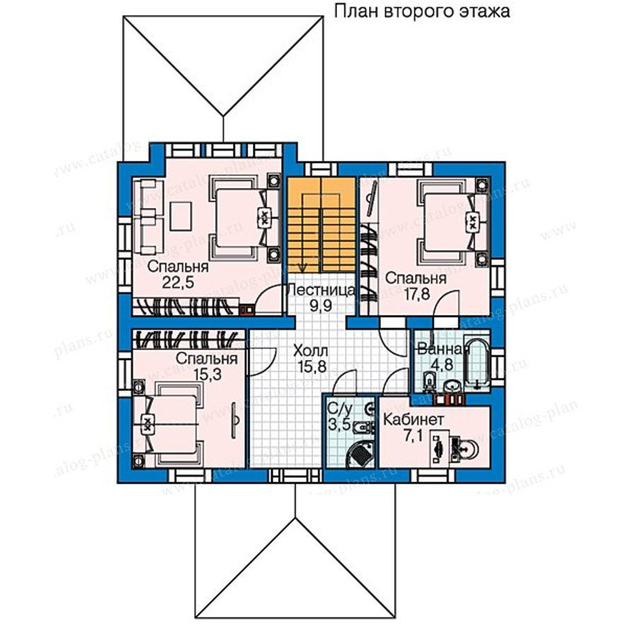 План 2-этажа проекта 60-57