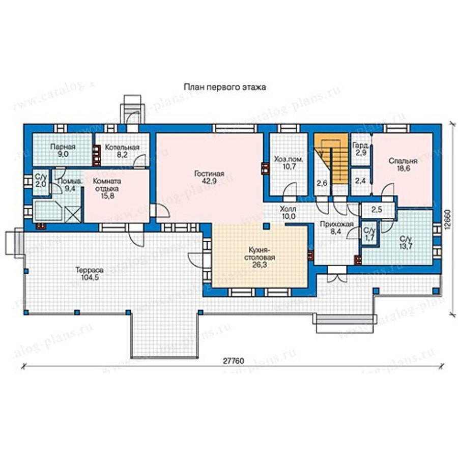 План 1-этажа проекта 60-59