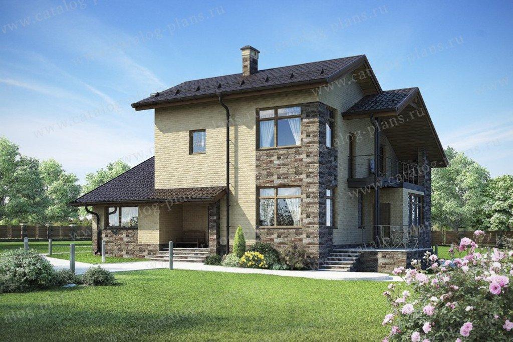 Проект жилой дом #60-61K материал - кирпич, стиль современный
