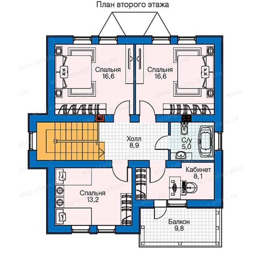 План 2-этажа проекта 60-55