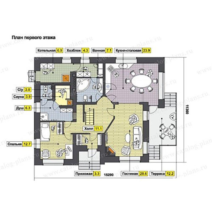 План 1-этажа проекта 60-61K