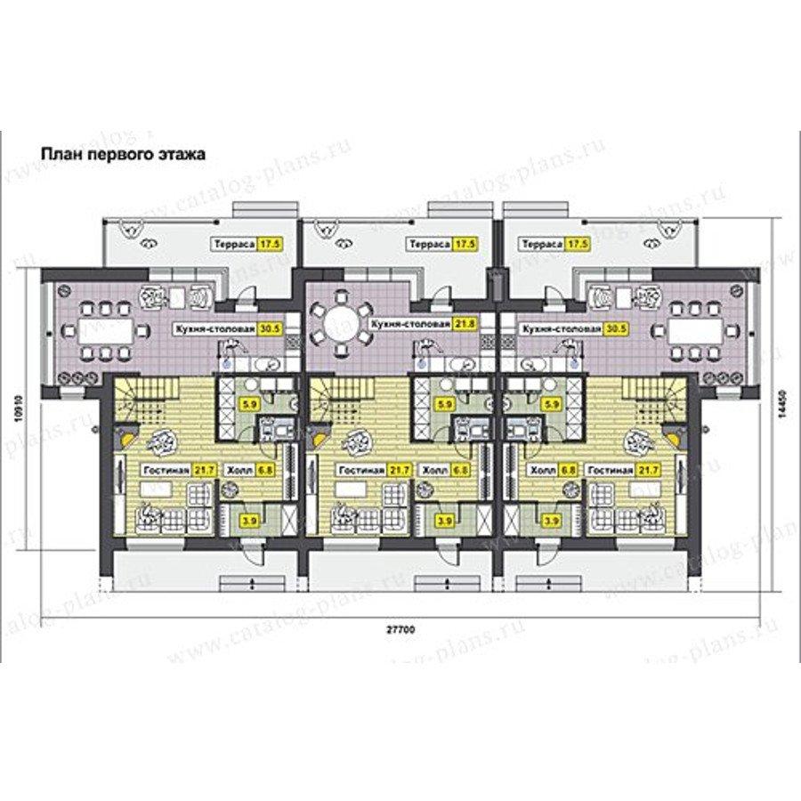 План 1-этажа проекта 60-62