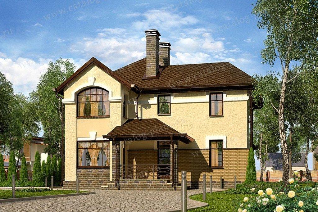 Проект жилой дом #60-63 материал - газобетон, стиль классический