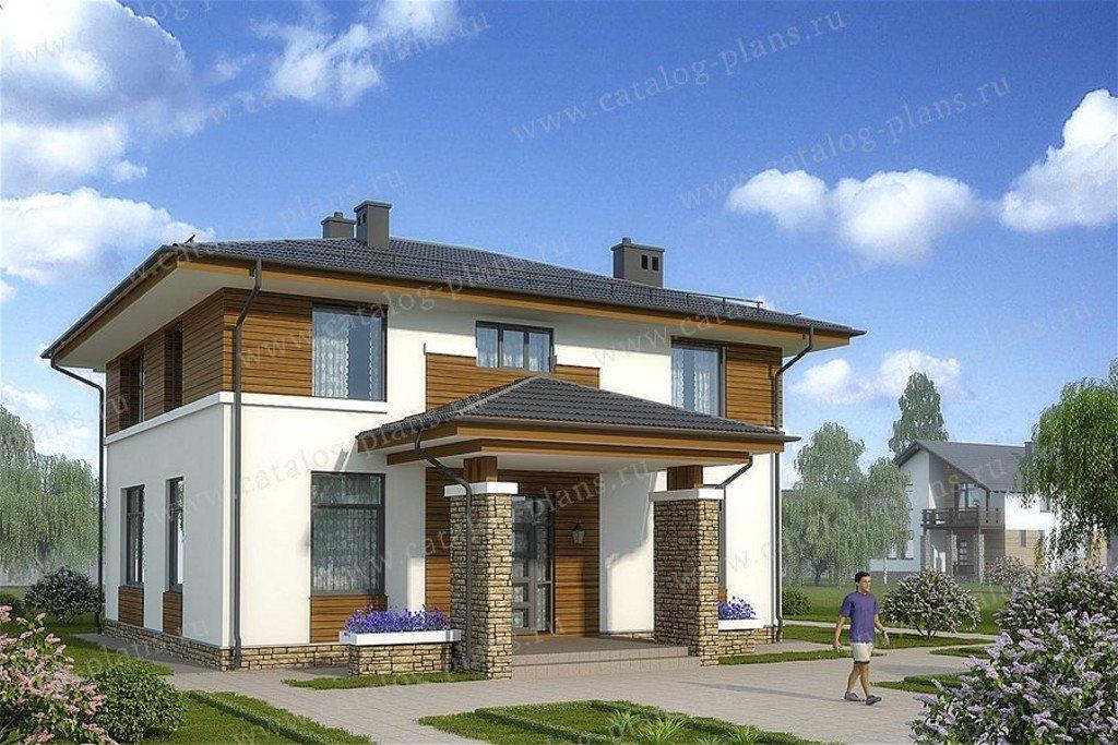 Проект жилой дом #60-58 материал - газобетон, стиль современный