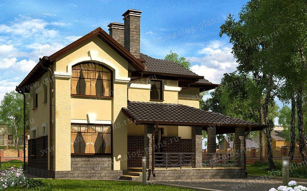 Проект жилой дом #60-63A материал - газобетон, стиль классический