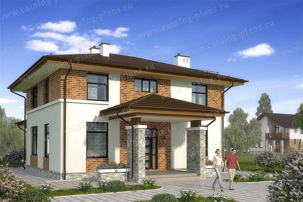 Проект жилой дом #60-57 материал - газобетон, стиль современный