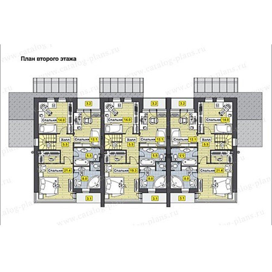 План 2-этажа проекта 60-62