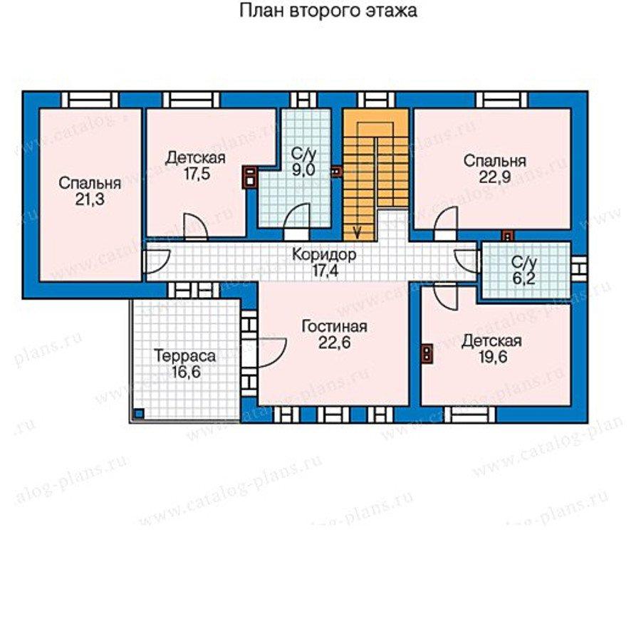План 2-этажа проекта 60-59