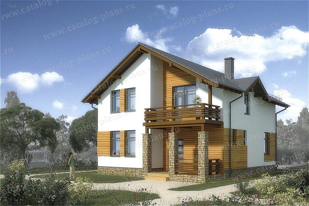 Проект жилой дом #60-56 материал - газобетон, стиль скандинавский