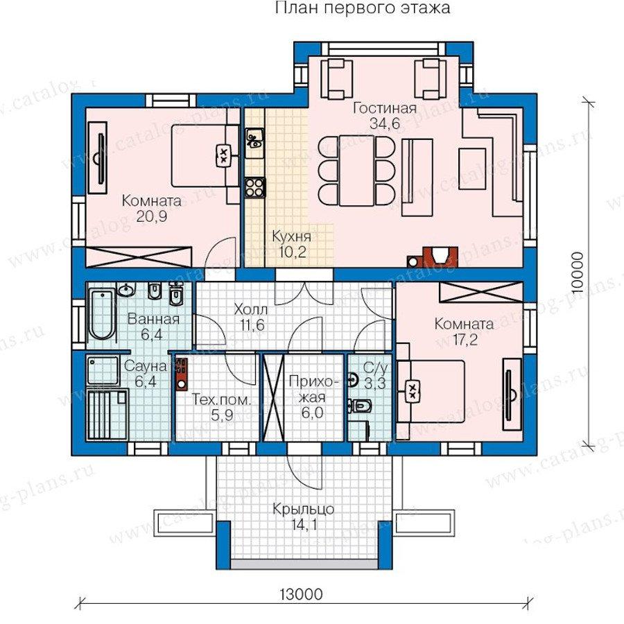 План 1-этажа проекта 60-47