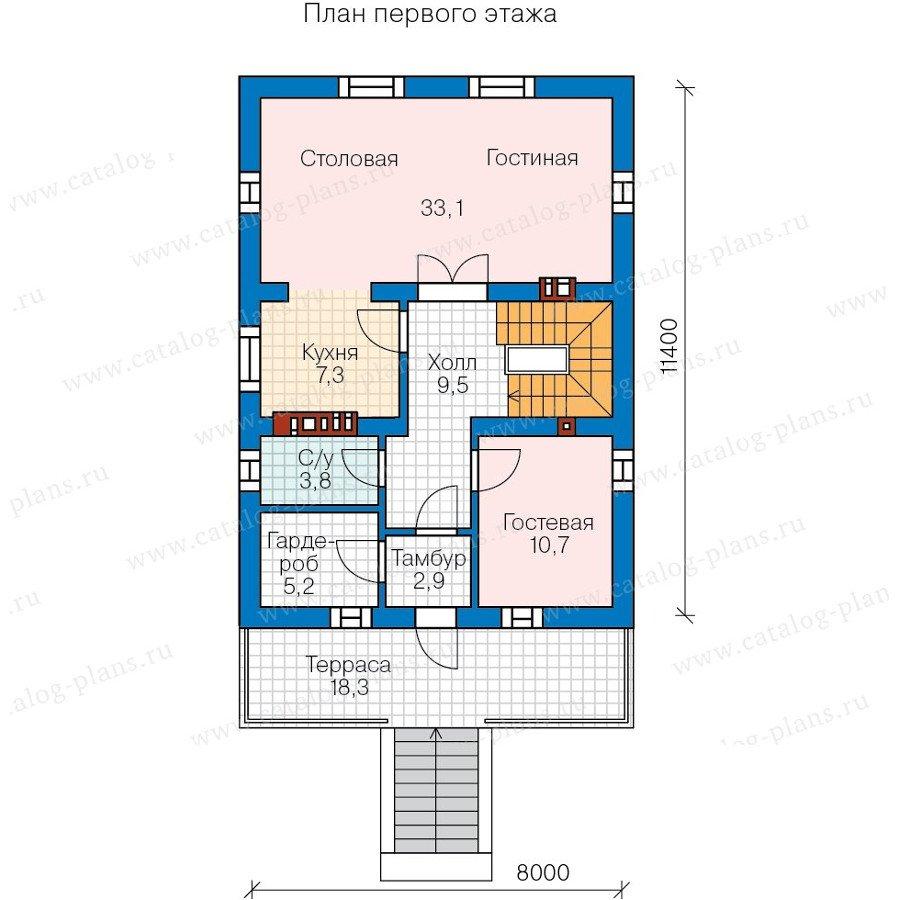 План 2-этажа проекта 59-99A