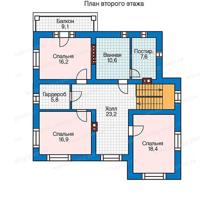План 2-этажа проекта 59-95L