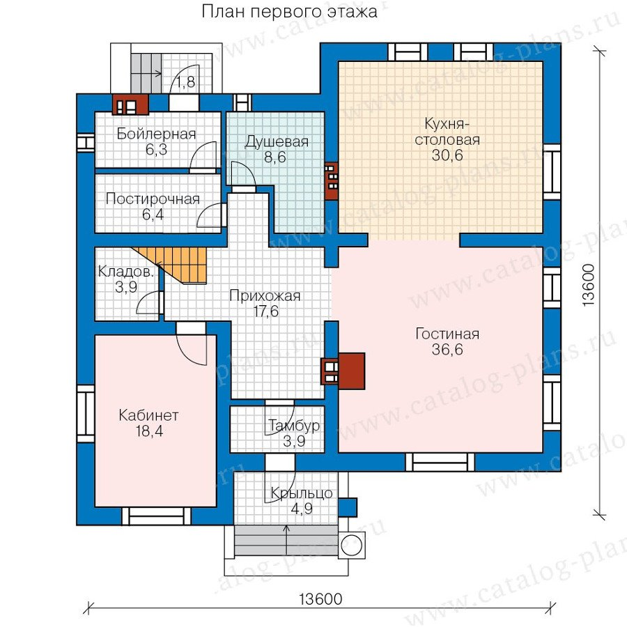 План 1-этажа проекта 59-95B