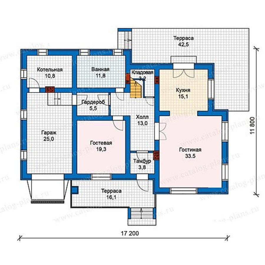 План 1-этажа проекта 59-96L