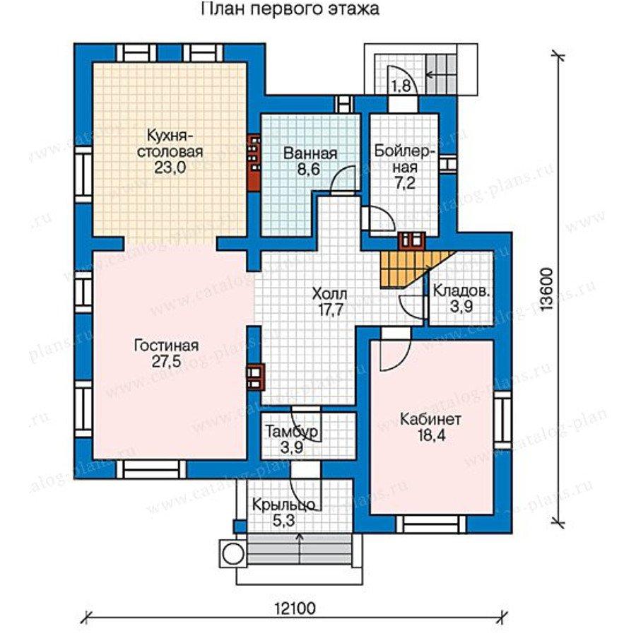 План 1-этажа проекта 59-95L
