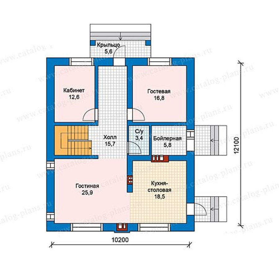 План 1-этажа проекта 59-98A