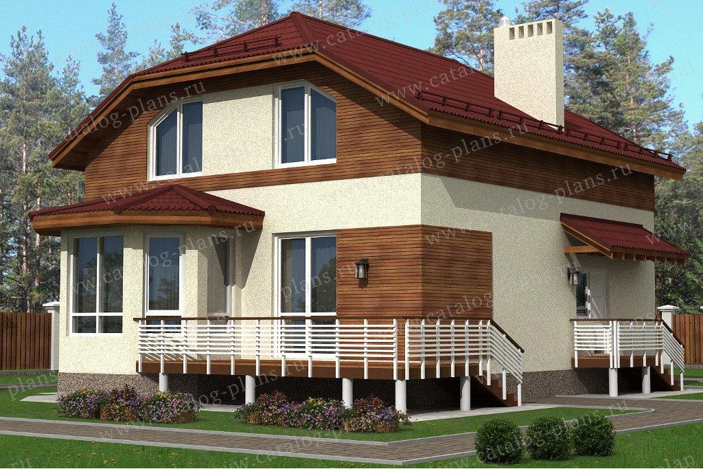 Проект жилой дом #70-55 материал - каркас, стиль современный