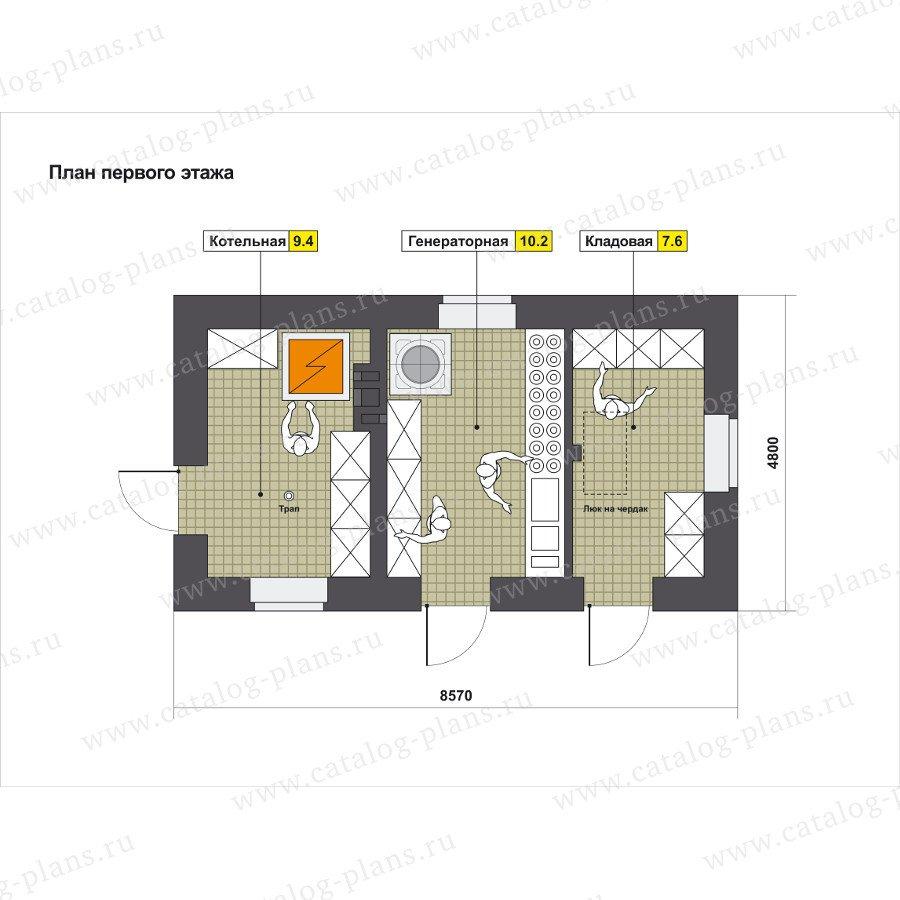 План 1-этажа проекта 90-21