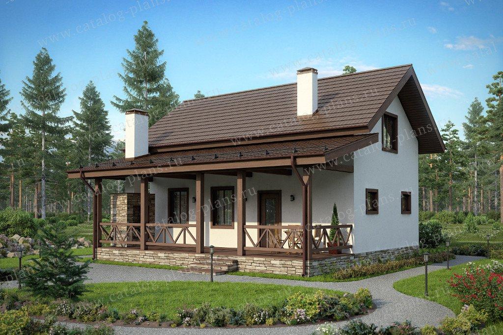 Проект жилой дом #90-14 материал - газобетон, стиль европейский