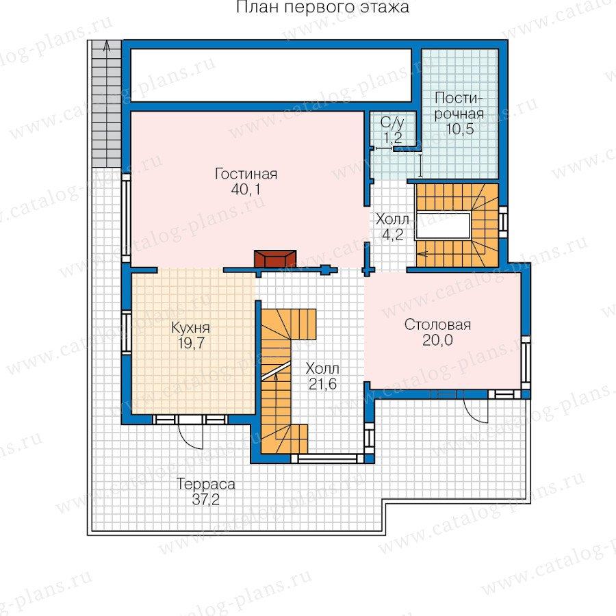 План 2-этажа проекта 70-56
