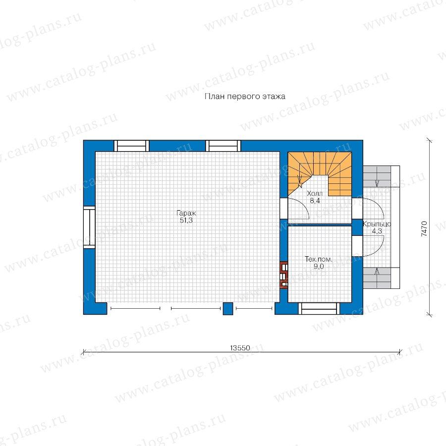 План 1-этажа проекта 90-35