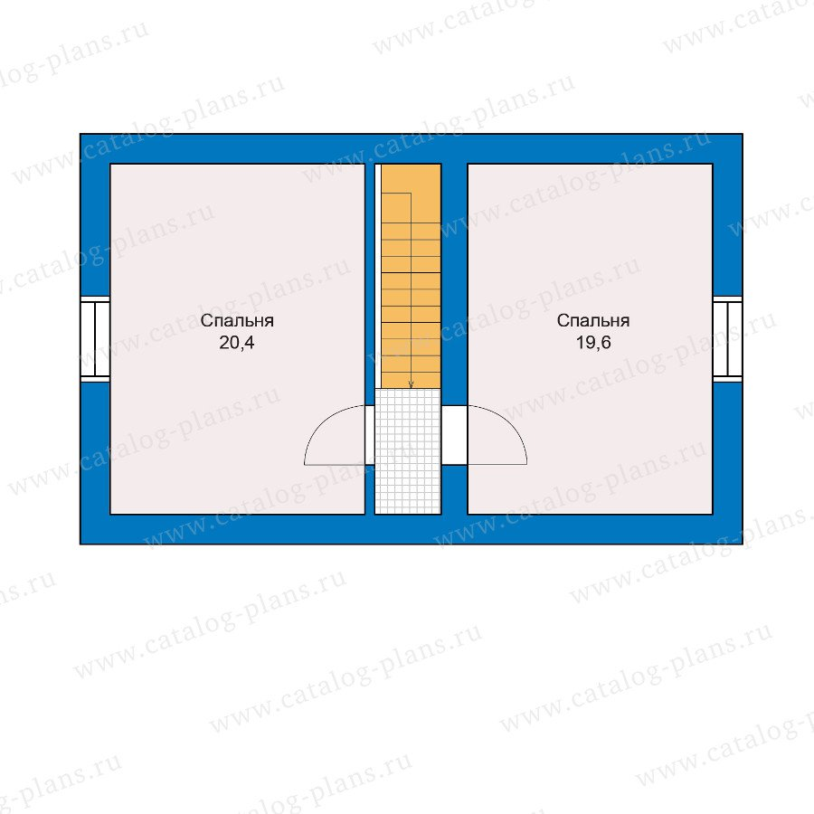 План 2-этажа проекта 90-14