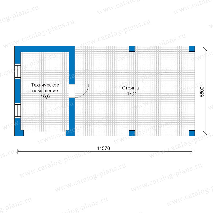 План 1-этажа проекта 90-13