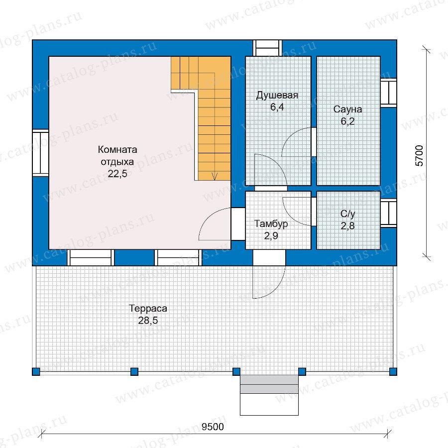 План 1-этажа проекта 90-14