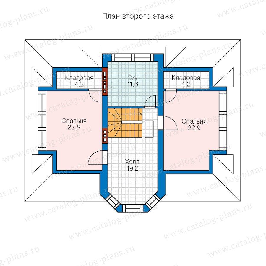 План 2-этажа проекта 60-52