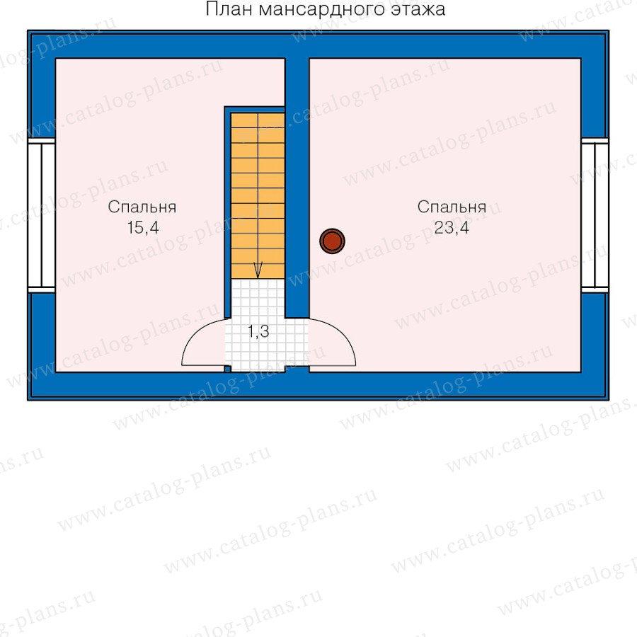 План 2-этажа проекта 90-17
