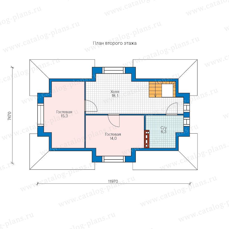 План 2-этажа проекта 90-35