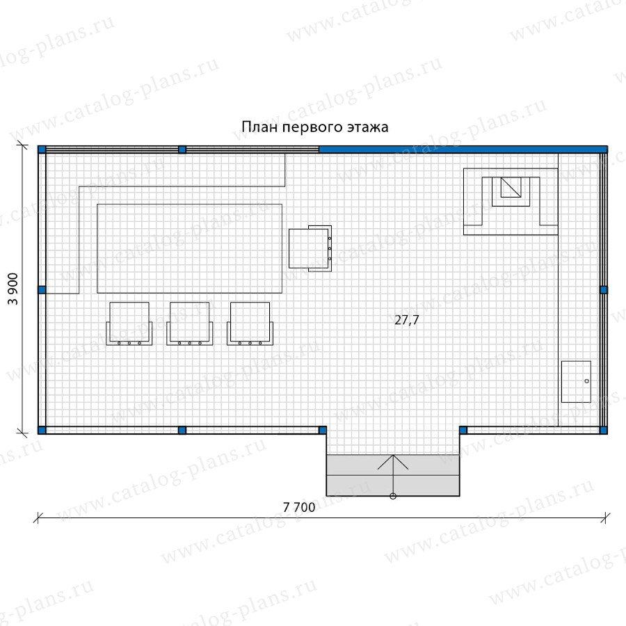 План 1-этажа проекта 90-15