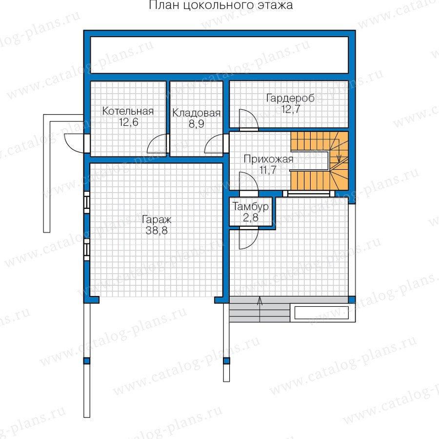 План 1-этажа проекта 70-56