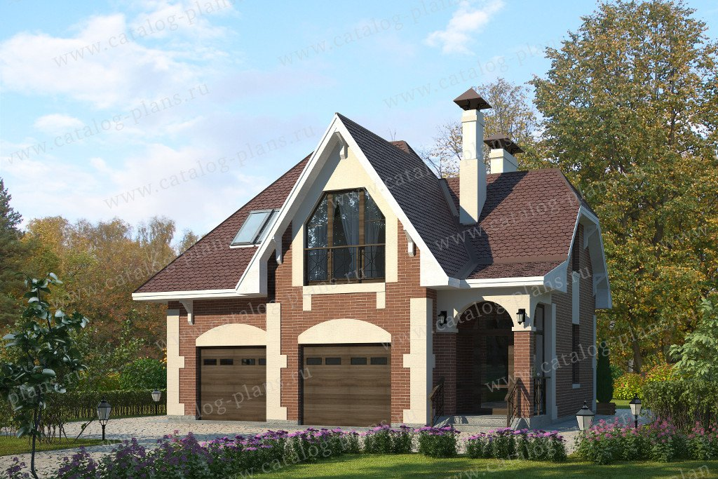 Проект жилой дом #70-01 материал - газобетон, стиль английский