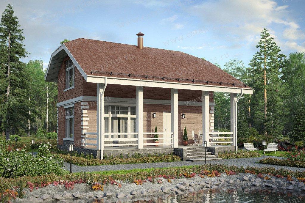 Проект жилой дом #90-17 материал - газобетон, стиль европейский