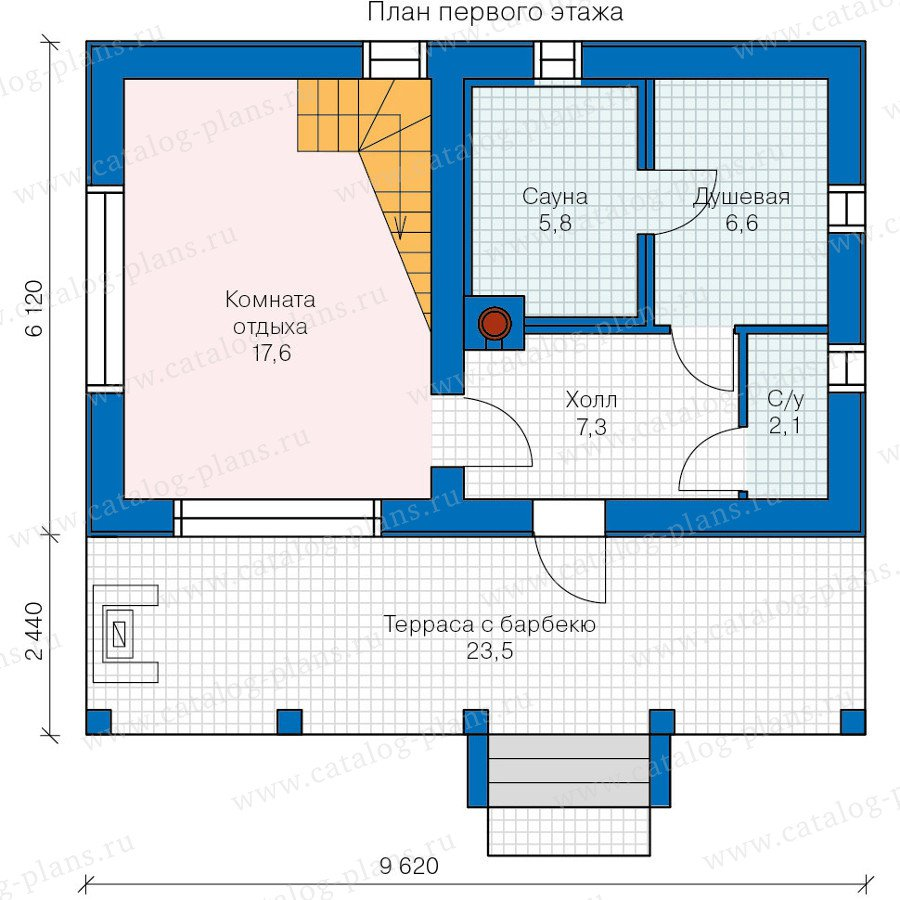 План 1-этажа проекта 90-17