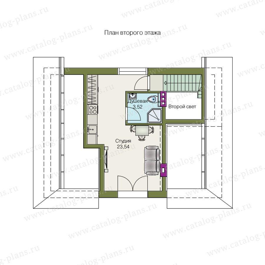 План 2-этажа проекта 70-03