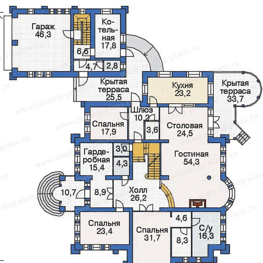 План 2-этажа проекта 36-07
