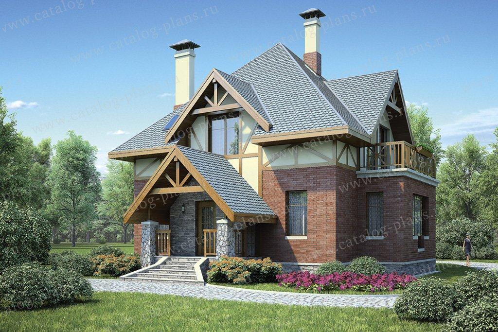 Проект жилой дом #36-84 материал - кирпич, стиль европейский