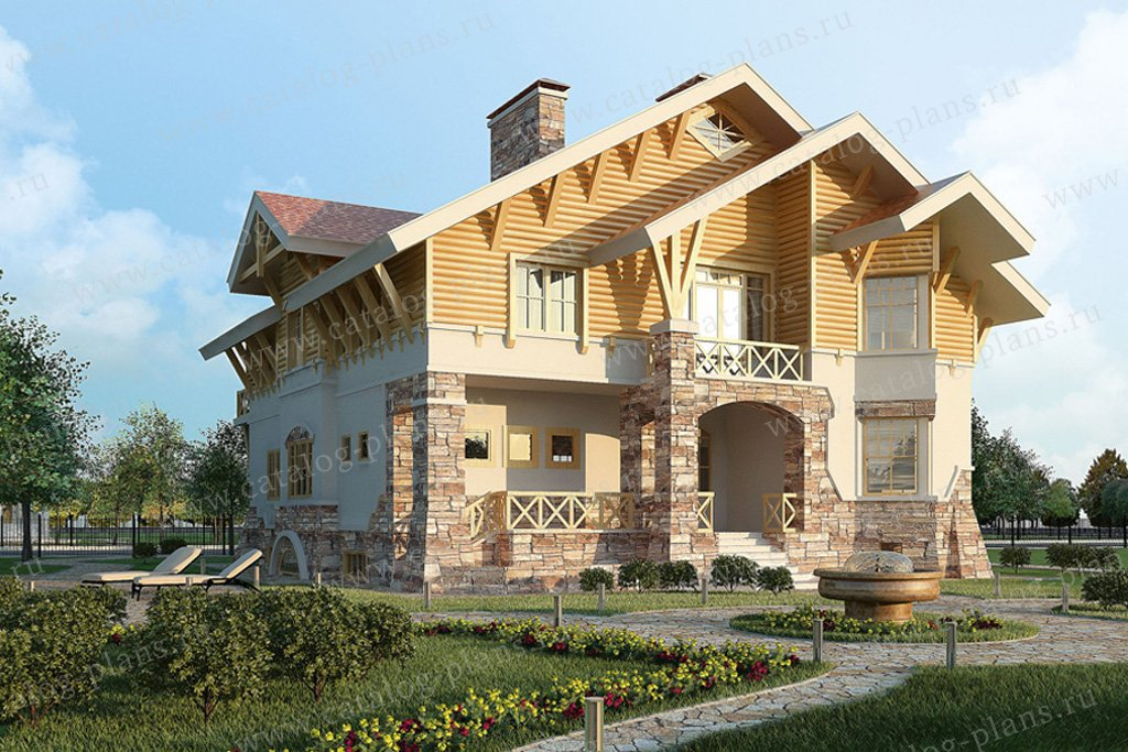 Проект жилой дом #36-22 материал - кирпич, стиль скандинавский