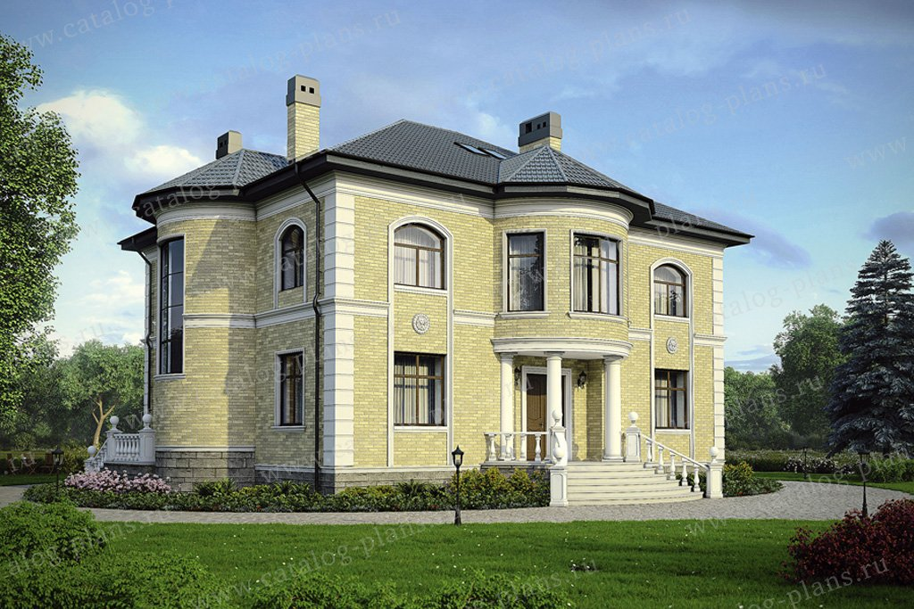 Проект жилой дом #36-50 материал - кирпич, стиль классический