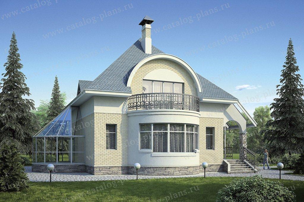 Проект жилой дом #36-70 материал - кирпич, стиль модерн