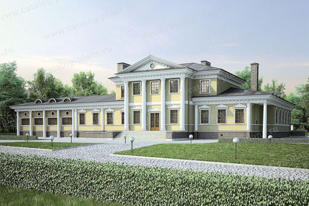 Проект жилой дом #36-67 материал - кирпич, стиль итальянский