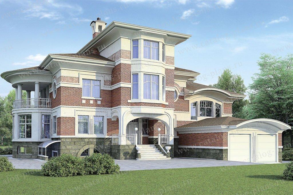 Проект жилой дом #36-20 материал - газобетон, стиль средиземный
