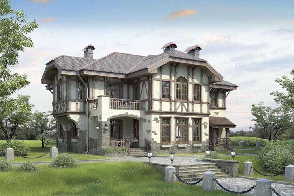 Проект жилой дом #36-42 материал - кирпич, стиль немецкий
